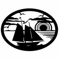 Sailboat Dreaming Metal Wall Silhouette