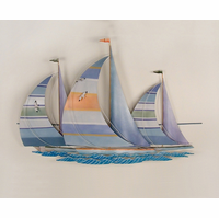 Sailboats on the Open Seas Metal Wall Hanging