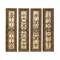 Scrolls of Elegance Wall Panels Set of 4