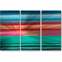 Seaside Sunrise Metal Wall Art