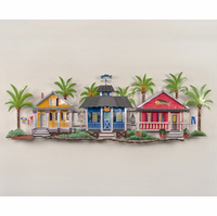 Seaside Village in the Palms Metal Wall Hanging