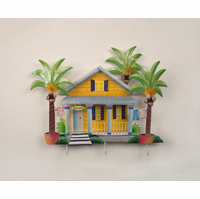 Seaside Welcome Beach Cottage Metal Wall Hanging