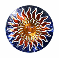 Solar Flare Sunburst Metal Wall Art