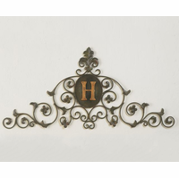 Sovereign Symbols Monogrammed Personalized Metal Door Topper