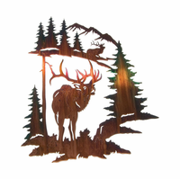 Splendor of the Elk Metal Wall Art Hanging