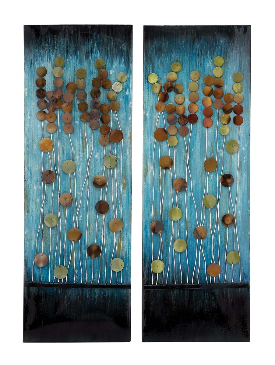 Wall Art And Decor For Living Room: Stream Of Bubbles Modern Wall Art Set Of 2