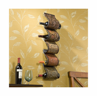 Sumptuous Scrolls Metal Wine Rack