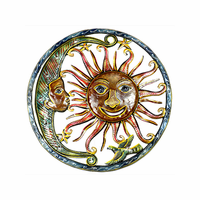 Sun and Moon Hang Out Metal Wall Art