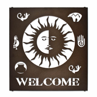 Sunny Welcome Metal Wall Art