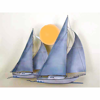 Sunrise Sailing Metal Wall Sculpture