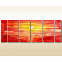 Sunset off Waikiki Wall Art Set of 6