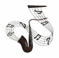 Sweet and Saxy Musical Metal Wall Hanging