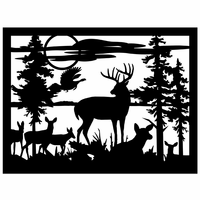 Ten-point Buck Deer Wall Art