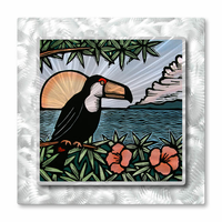 Toucan Sunrise Tropical Wall Art