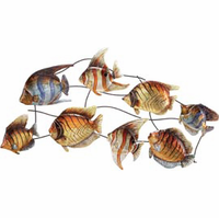 Tropical Fish Friends Metal Wall Hanging