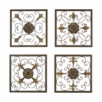 Tuscan Grilles Metal Wall Panels Set of 4