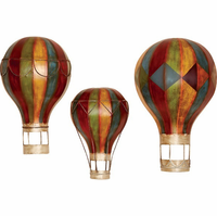 Up & Away Hot Air Balloons Metal Wall Art Set of 3