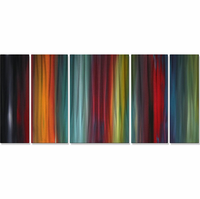 Velvet Rainbow Metal Wall Art Set of 5