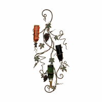 Vineyard's Bounty Five-Bottle Metal Wall Wine Rack