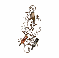 Wine Country Branch Metal Wall Wine Rack
