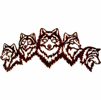 Wolves on Watch Metal Wall Sculpture
