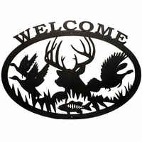 Woodland Welcome Silhouette Wall Art