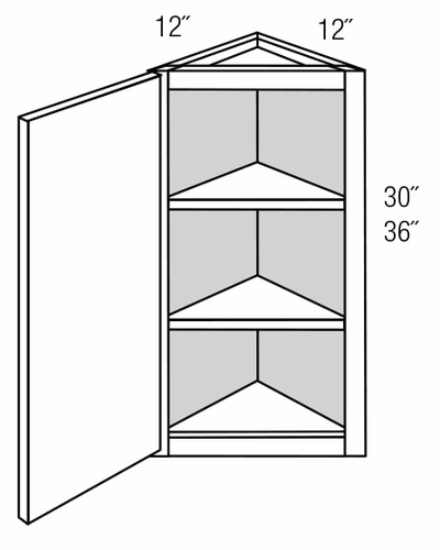 AW36: Wall Angle End Cabinet: Plymouth RTA Kitchen Cabinet