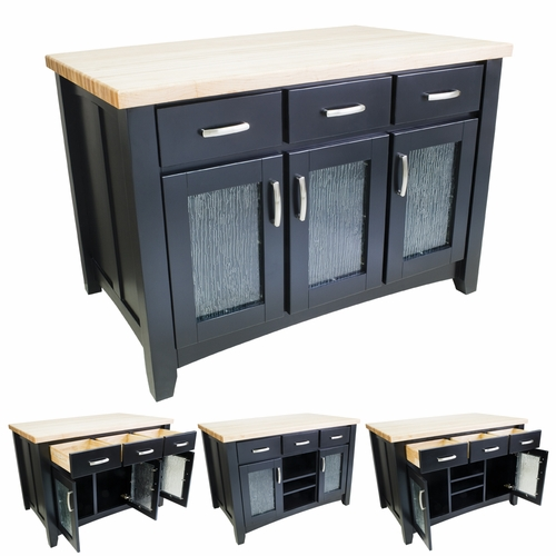 Black Modern Kitchen Island-ISL07