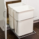 Double 35 Quart Pull-Out Waste Container with Full-Extension Slides