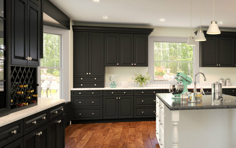 Gramercy Midnight Kitchen Cabinets