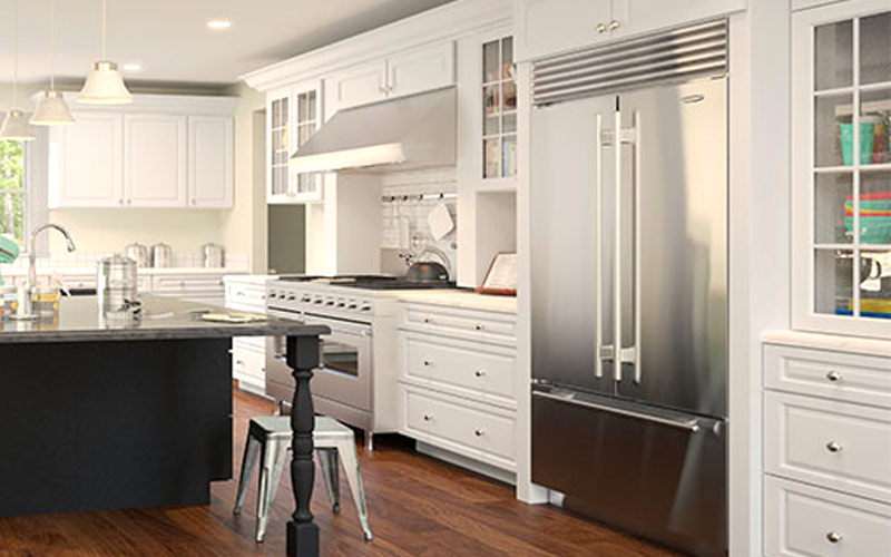 amazing Kitchen Cabinets Assemble Yourself #2: Gramercy White Kitchen Cabinets