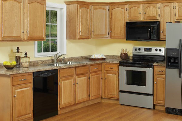 Cabinet: Light Oak Kitchen Cabinet - Care Partnerships