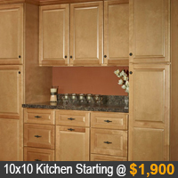 Quincy Golden Kitchen Cabinets