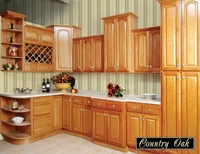 Roman Country Oak Kitchen Cabinets