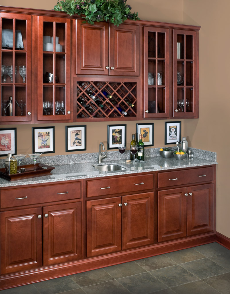 Saginaw Crimson Kitchen Cabinets