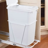 Single 30 Quart Waste Container with 3/4 Extension Slides