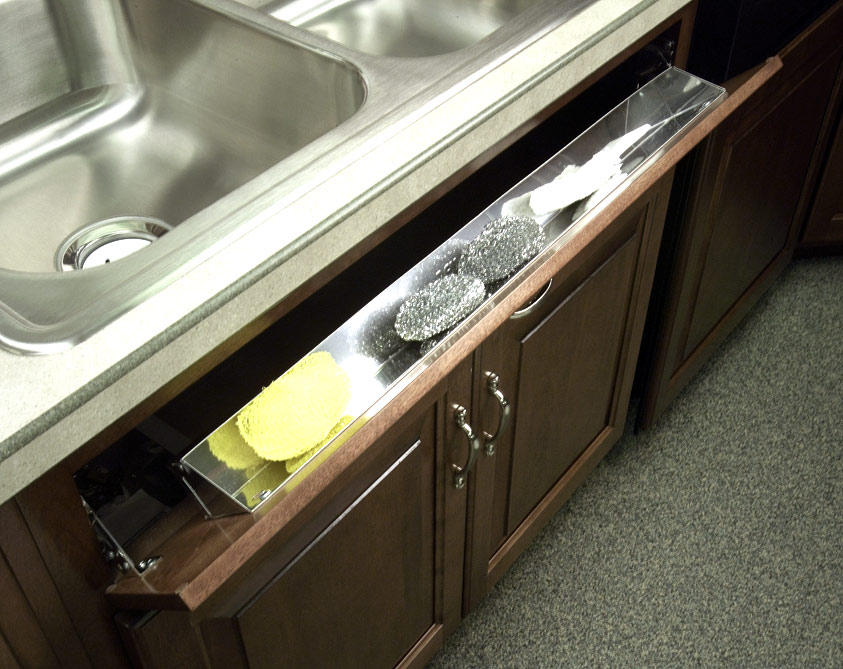 Stainless Steel Tip-Out Tray With 1 Pair of Hinges - Stainless Steel-Stainless Steel
