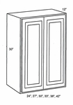 W2430B-Wall Cabinets:Double-Door-Wall-Cabinet:Country Oak Kitchen Cabinet