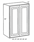 W3342B-Wall Cabinets:Double-Door-Wall-Cabinet:Country Oak Kitchen Cabinet