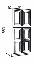 WP2490B-Tall Cabinets:Pantry-Cabinet:Ice White Shaker Kitchen Cabinet