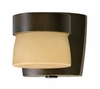 1 Light Mini Outdoor Sconce Lighting with Tea stained glass diffuser shown in Oil-rubbed Bronze by AFX Lighting