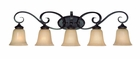 Jeremiah Lighting (25105-ET) Stanton 5 Light Vanity Fixture in English Toffee