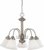 Nuvo Lighting (60-3290) Ballerina (Energy Saver) 5 Light 24 inch Chandelier with Frosted White Glass, Lamps Included
