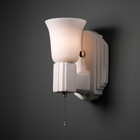 Justice Design (CER-7111) Deco Rectangle with Uplight Glass Shade Wall Sconce from the American Classics Collection