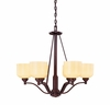Contempo Trends Wilmont 6 Light Chandelier - 1-4664-6-13