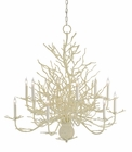 Currey & Co. Seaward Chandelier, Large In White Coral/Natural Sand - 9188