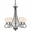 Denmark- Contemporary Style Denmark Chandelier In Teco Marrone Finish From Quoizel Lighting- DK5005TM
