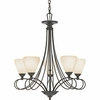 Quoizel Lighting (DK5005TM) Denmark 5 Light Chandelier in Teco Marrone Finish