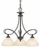Denmark- Contemporary Style Denmark Chandelier In Teco Marrone Finish From Quoizel Lighting- DK5103TM