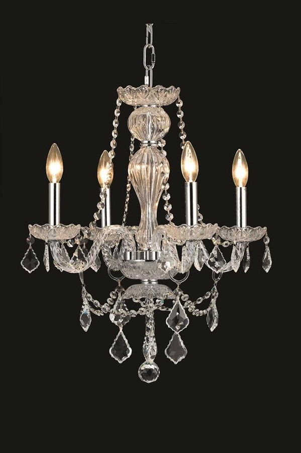 elegant lighting 1901f12 4 light century crystal flush